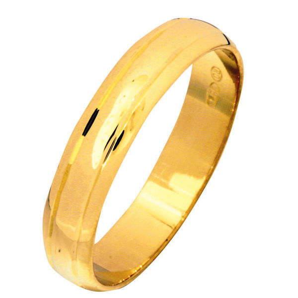 Wedding ring 4mm, yellow gold